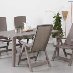 Set 2 scaune pliante pentru gradina, cappuccino - 4