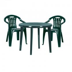 Masa rotunda pentru gradina, verde - 2