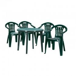 Masa rotunda pentru gradina, verde - 4