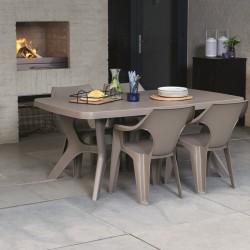 Masa pentru gradina, dreptunghiulara, cappuccino - 3