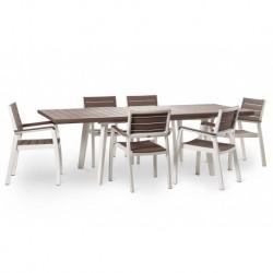 Masa pentru gradina, extensibila, cappuccino - 3