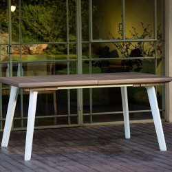 Masa pentru gradina, extensibila, cappuccino - 5