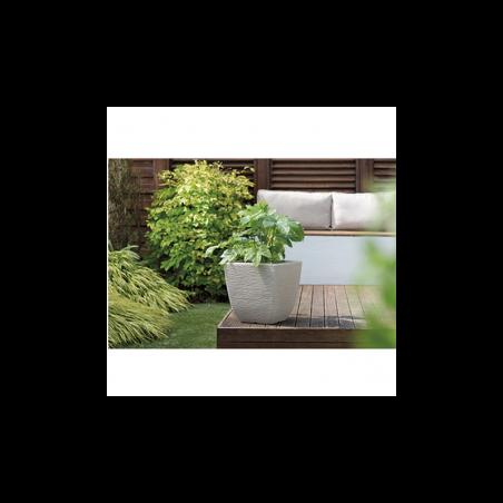 Ghiveci pentru flori si plante, patrat, gri, 34L - 1