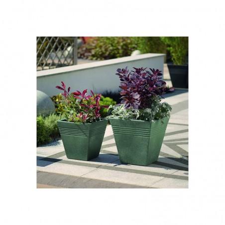 Ghiveci pentru flori, imitatie marmura verde, 30L - 1