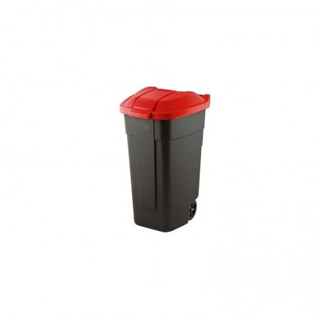 Cos pentru gunoi Refuse, negru-rosu, 110L - 1