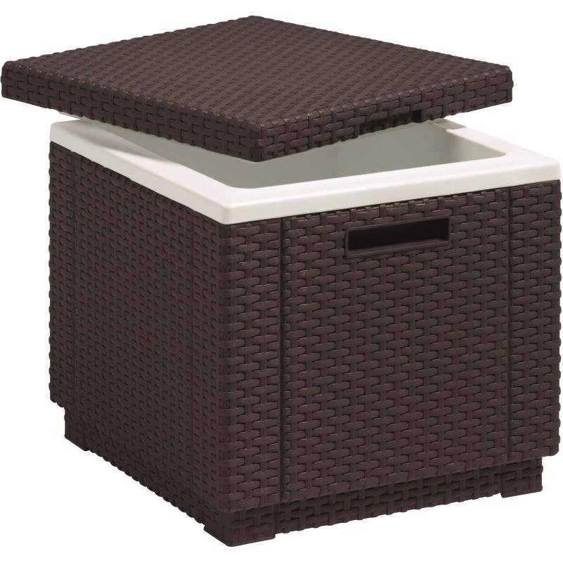 Cutie depozitare Ice Cube, tip scaun, maro, patrat - 1