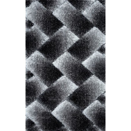 Covor pufos 3D gri - 1