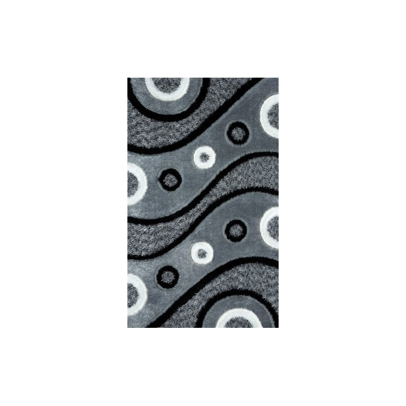 Covor pufos 3D cercuri - 1