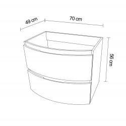 Mobilier baie pentru lavoar, alb, 70 X 49 X 56 cm - 3