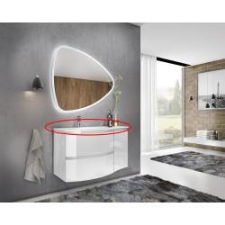 Lavoar din compozit, 70, alb, 69x13.2x50.5 cm - 2