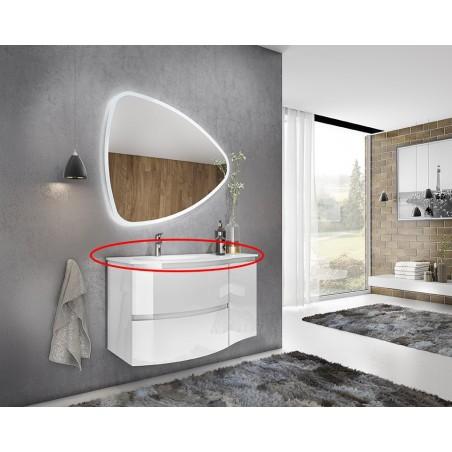 Lavoar din compozit, 70, alb, 69x13.2x50.5 cm - 1