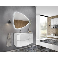 Set mobilier baie, alb, complet, Armonia - 1