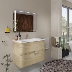 Mobilier baie pentru lavoar, stejar auriu, 80 x 46 x 56 cm - 2