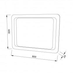 Oglinda pentru baie, dreptunghiulara, cu iluminare LED, 60 x 80 cm - 3