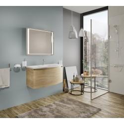 Oglinda pentru baie, dreptunghiulara, cu iluminare LED, 60 x 80 cm - 2
