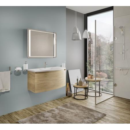 Oglinda pentru baie, dreptunghiulara, cu iluminare LED, 60 x 80 cm - 1