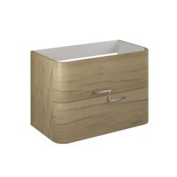 Set mobilier baie, stejar-auriu, complet, Geos 80 cm - 2
