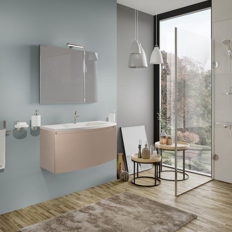 Set mobilier baie, cappuccino, complet, Sole 80 cm - 1