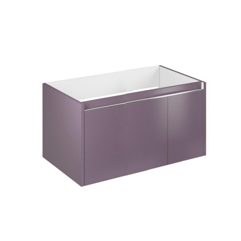 Set mobilier de baie cu baza suspendata, viola pastello, lavoar Cielo 80 - 3