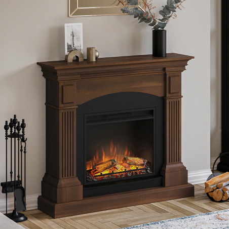 SEMINEU MAGNA WALNUT WENGE CU FOCAR ELECTRIC POWERFLAME 23 INCH - 1