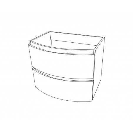 Baza suspendata cu 2 sertare, stejar auriu, 70 cm, Armonia - 1