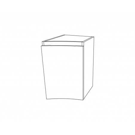 Baza suspendata laterala cu 1 ușă, stejar auriu, Armonia - 1