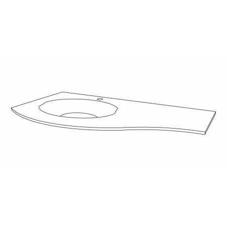Lavoar din compozit, alb, 104 cm, Armonia - 1