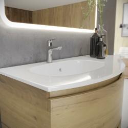 Set mobilier baie, bază suspendată cu 2 sertare, bază laterală cu 1 ușă și lavoar din compozit, Armonia - 2