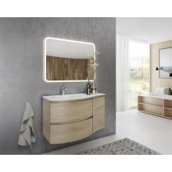 Set mobilier baie, bază suspendată cu 2 sertare, bază laterală cu 1 ușă și lavoar din compozit, Armonia - 4