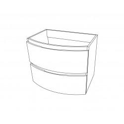 Set mobilier baie, bază suspendată cu 2 sertare, bază laterală cu 1 ușă și lavoar din compozit, Armonia - 5