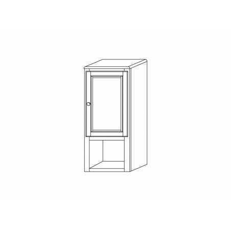Dulăpior supsendat, 1 ușă, nuc, Legno Massello - 2