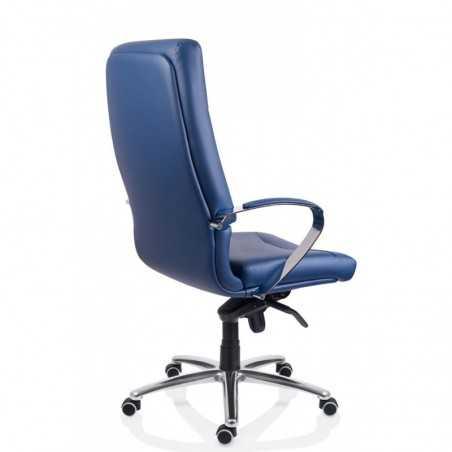 Scaun birou piele-eco albastru Sett - 1