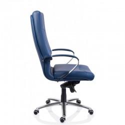 Scaun birou piele-eco albastru Sett - 3