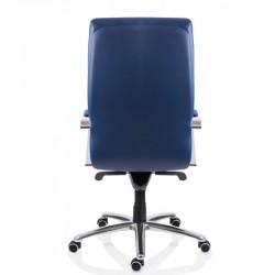 Scaun birou piele-eco albastru Sett - 4