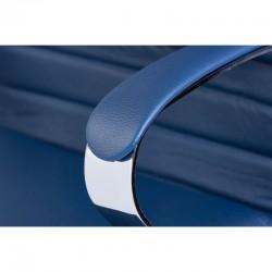 Scaun birou piele-eco albastru Sett - 5