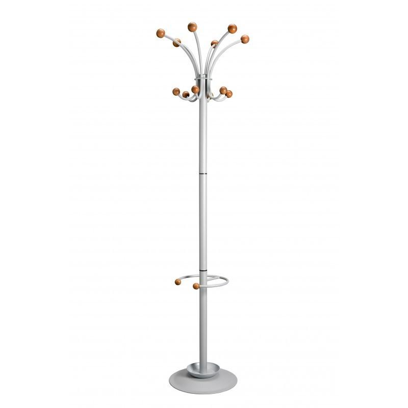 Cuier Pompei cu suport umbrelă și elemente din lemn fag - 1