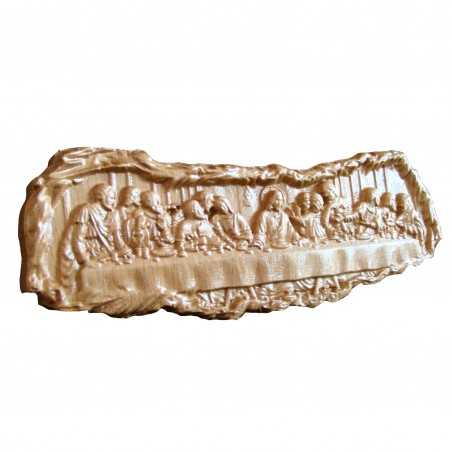 Icoana sculptata Cina cea de Taina, stejar, 26x9 cm