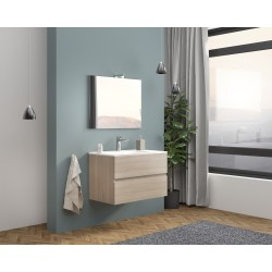 Set mobilier baie Easy80 Rovere Fumo - 1