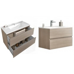 Set mobilier baie Easy80 Rovere Fumo - 3