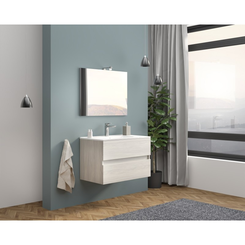 copy of Set mobilier baie Easy80 Rovere Fumo - 2