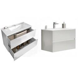 Set mobilier baie Easy80 Alb Lucios - 3