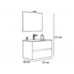 Set mobilier baie Easy80 Alb Lucios - 4
