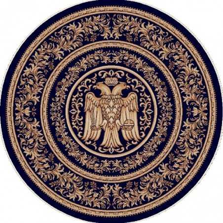 Covor cerc albastru Vultur Bicefal - 2