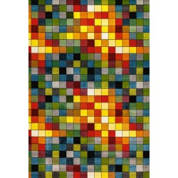 Covor multicolor cu patratele - 1