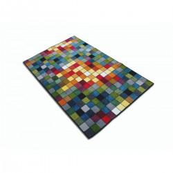 Covor multicolor cu patratele - 2